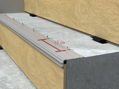 Направляющая к бетону крепится на дюбели