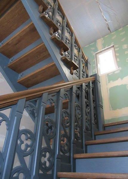 Необычное решение покраски деревянных элементов