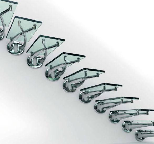 Необычные ступеньки из каленого стекла на стальных опорах
