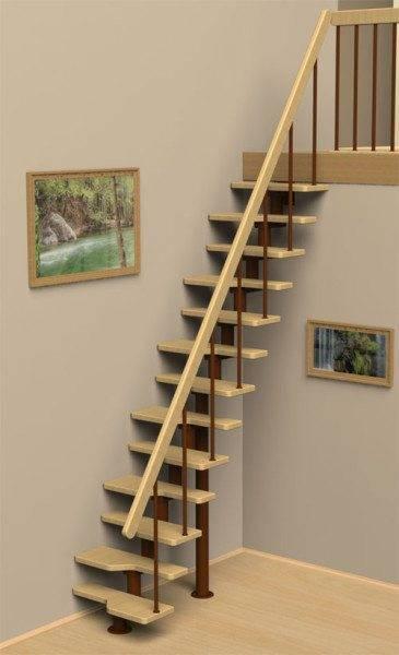 Очевидно, что по лестнице, изображенное на фото, подниматься придется с трудом, шаг будет сбит