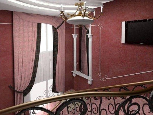 Оформление лестницы в классическом стиле