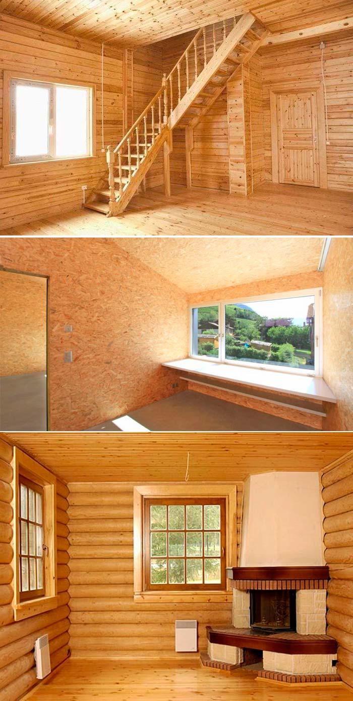 Внутренняя отделка стен дачи