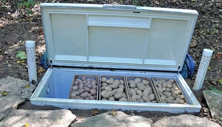 Погреб из холодильника