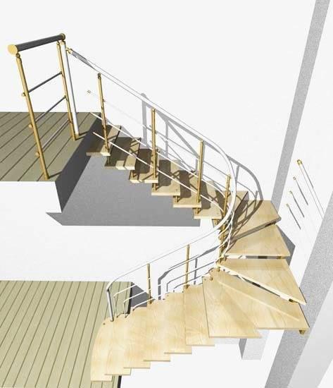 Проект лестницы с площадками.