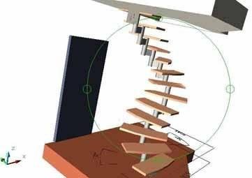 Проектирование металлических лестниц или любых других обязательно должно проводиться в изометрии, вы должны видеть всю конструкцию со всех сторон