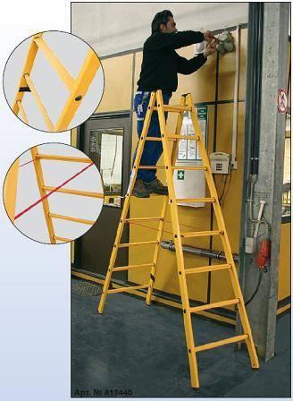 Работа на таких лестницах удобна и безопасна.