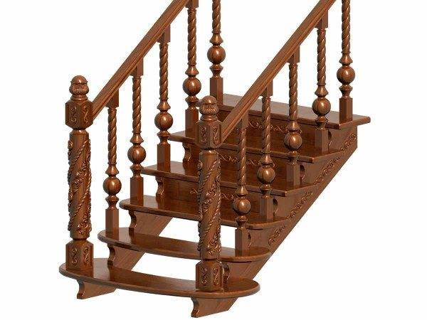 Резьба по дереву позволяет превратить обычную лестницу в настоящее произведение искусства.