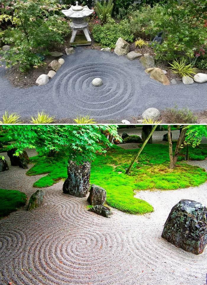 Оформление японского сада камней