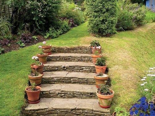 Садовые ступени.