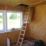 Складная деревянная лестница на чердак