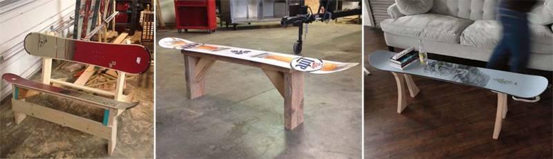 Мебель из сноуборда