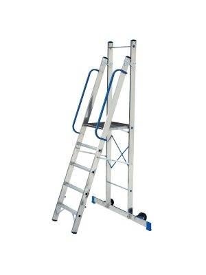 Алюминиевая лестница-стремянка – незаменимое устройство для работы на небольшой высоте