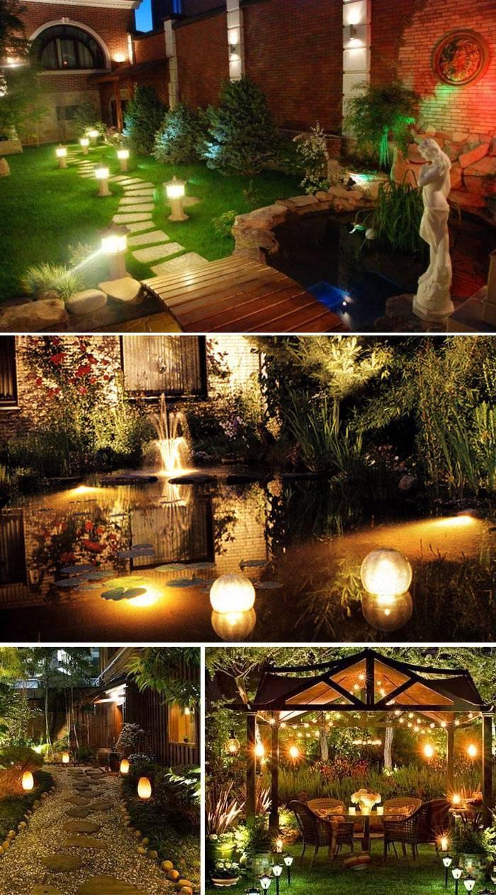 Красивый свет в саду