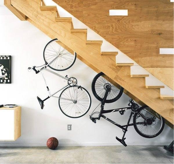 Такое расположение велосипедов смотрится необычно