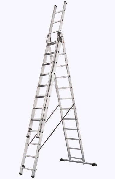 Телескопические стремянки имеют форму буквы У, только перевернутую, такие конструкции чаще используются в строительной сфере