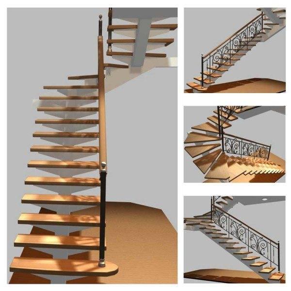 В современных конструкциях подступенками и площадками можно пренебречь.
