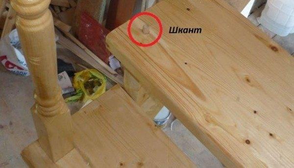 В связи с тем, что на балясины практически нет нагрузки, их можно закрепить на скрытый вид крепежа – шканты