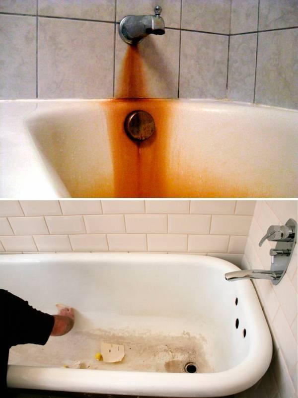 Загрязнения ванны