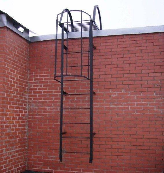 Вертикальная пожарная лестница П1-2.