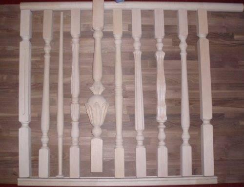 Виды деревянных балясин
