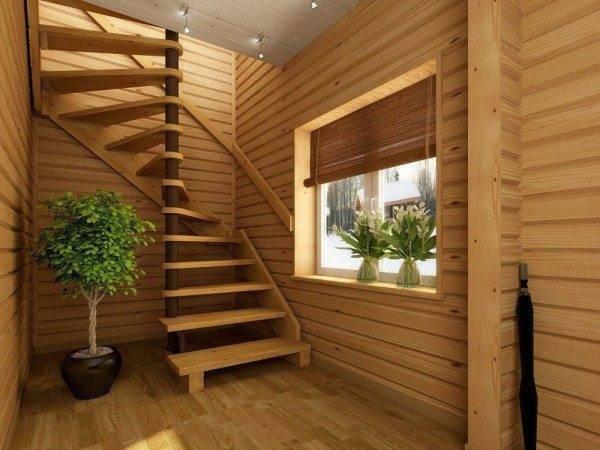 Винтовая лестница ЛС 01 в дизайне дома