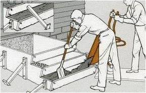 Возведение бетонного крыльца.