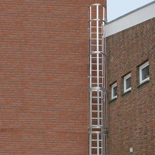Защищенная вертикальная модель пожарной лестницы.