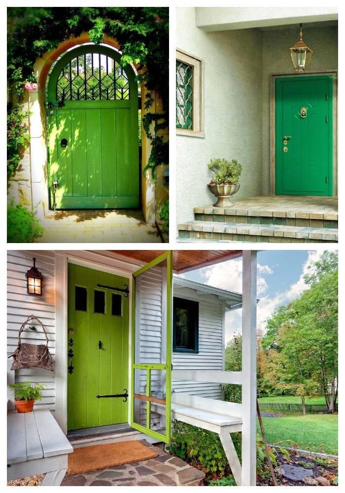 Зеленые двери