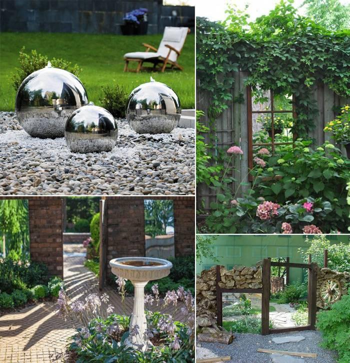 Идеи использования зеркал в саду