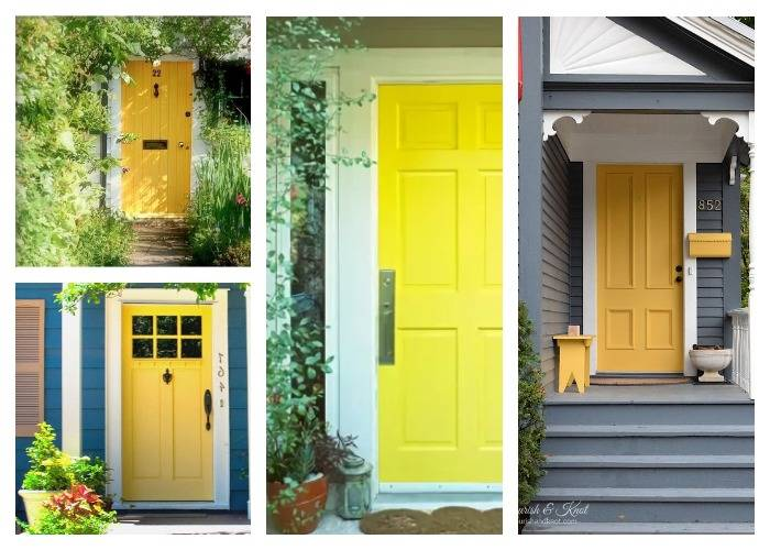 Желтые двери на даче